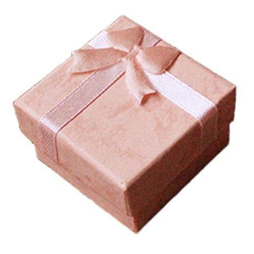 Demarkt 5X Geschenkschachtel Geschenkbox Schmuckbox für Weihnachten Geburtstage Hochzeiten 4 * 4cm Rosa