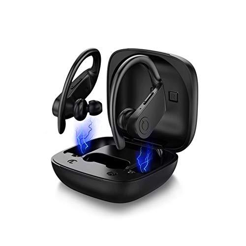 WZPG 5.0 Casque Sport Bluetooth, bourgeons Intra-Oreilles imperméables IPX5 avec Meilleur Micro, écouteur d'affichage à LED, pour téléphone Intelligent, Course à Pied, Gymnase, Exercice, en Cours
