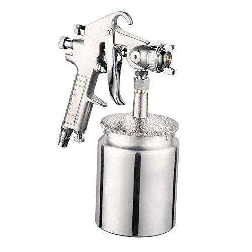 3-mm-Druckluftpistole mit Saugnapf und Edelstahldüse mit 1000 ml Kapazität als Airbrush-Malwerkzeug von Nuzamas, geeignet für Autos und Möbel
