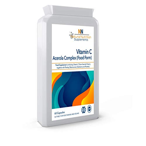 Vitamin C Acerola Complex Food Form 60 Capsules