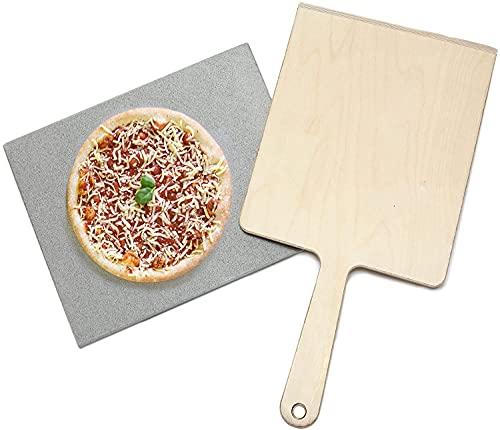 Piedra para hornear pan - piedra para pizza de piedra natural 40 cm x 30 cm x 2 cm, para horno y grill. Hecho en Alemania