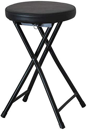 QTQZDD Gecapitonneerde opvouwbare kinderstoel rond ontbijt keuken bar kruk meubels compacte hoge stoel, metaal 4 4
