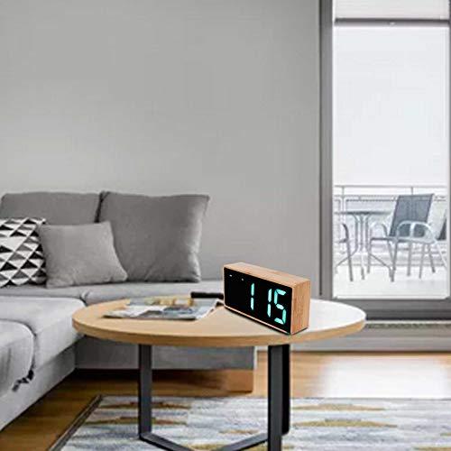 FEBT Reloj LED, Reloj silencioso para Amigos para Familia para Dormitorio para el hogar