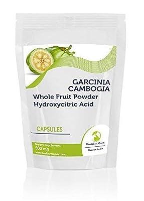 Garcinia Cambogia Whole Fruit Powder 500mg90 Capsules Health Food Supplements Nutrition Hydroxycitric Acid HCA Malabar Tamarind HEALTHY MOOD