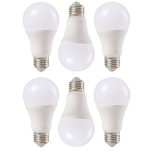 SHANHAI A19 E26 Medium Base LED Light Bulbs for Home, Office & Market - 100 watt equivalent (11W), Energy Saving, Soft White (2700K),CRI80+, 1100lm, General Purpose Light Bulb,UL Listed , Pack of 6