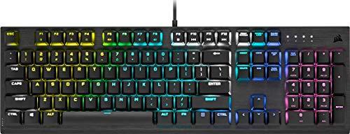 Corsair K60 RGB Pro Mechanische Gaming-Tastatur (Cherry MX Low Profile Speed-Tasten: Linear und schnell, schlanker, langlebiger Aluminiumrahmen, anpassbare RGB-Hintergrundbeleuchtung) QWERTY, schwarz