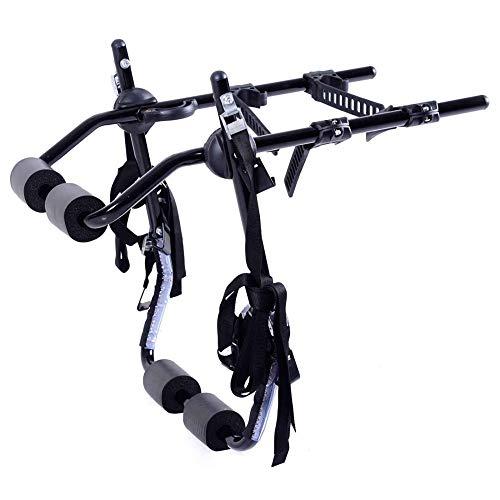 Portabicicletas,Plegable de Acero con Alto Contenido de Carbono para Bicicletas Montaje Trasero...