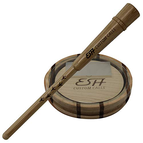 Nationwide Scents Esh Custom Calls Laminate Glass Turkey Call with Hickory Striker | Pot Pan Turkey Calls for Hunting