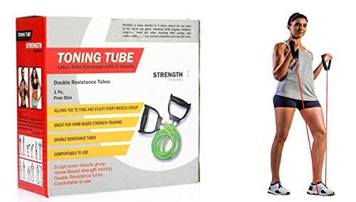 Manogyam 2 Rope Rubber Toning Resistance Tube