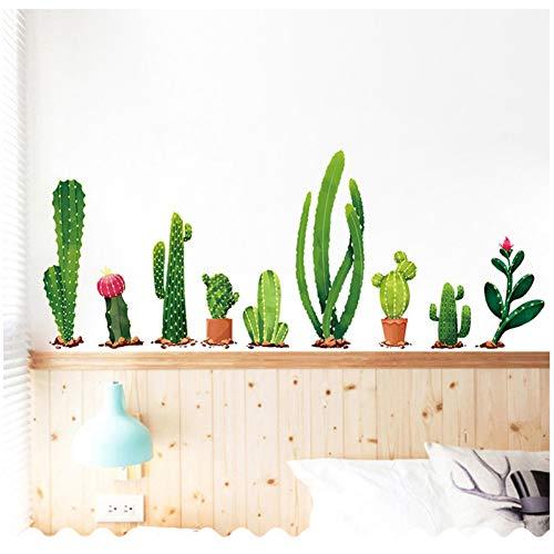 VIOYO Pvc zelfklevende muurstickers decoratieve kunst muurschildering groene plant Cactus muur Stickers slaapkamer kast raam huisdecoratie stickers