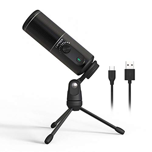 USB Computer Microphone,CMTECK XM520 Recording Microphone for PC Laptop,Desktop Condenser Microphone with Mute Switch for MAC and Windows Studio Recording,Podcast,YouTube, Gaming,Singing