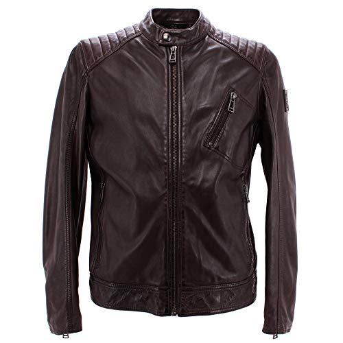 Belstaff V Racer Leather Jacket in Black Brown