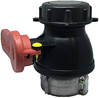 TOP-MAX IBC Adaptor Fitting Tap IBC Valve Ball Water Tank IBC Fitting Oil Fuel Tank IBC Tote Tank Ball Valve Drain Adapter IBC Water Tank Screwable Ball Valve(62 mm)