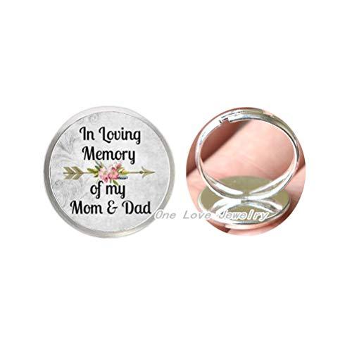 in Loving Memory of My Mom and Dad Anillo para conmemorar a mi mamá y papá, mamá y papá anillo conmemorativo de aleación de cristal, anillo TAP251