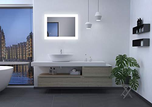 Talos Bright LED badkamerspiegel, wit, 80 x 60 cm