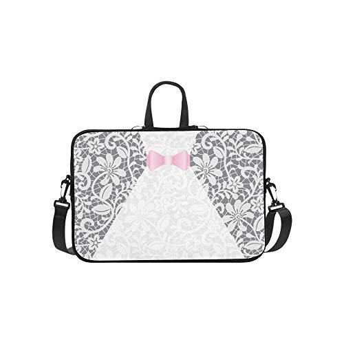 Laptop Umhängetasche Umhängetasche Tasche Notebook Griff Ärmel Neopren Soft Carring Tablet Reisetasche, Hochzeitskarte Weißes Kleid Laptop Handtaschen 14