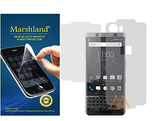 MARSHLAND Front and Back Screen Protector Anti Scratch Bubble Free Screen Guard Compatible for BlackBerry Keyone