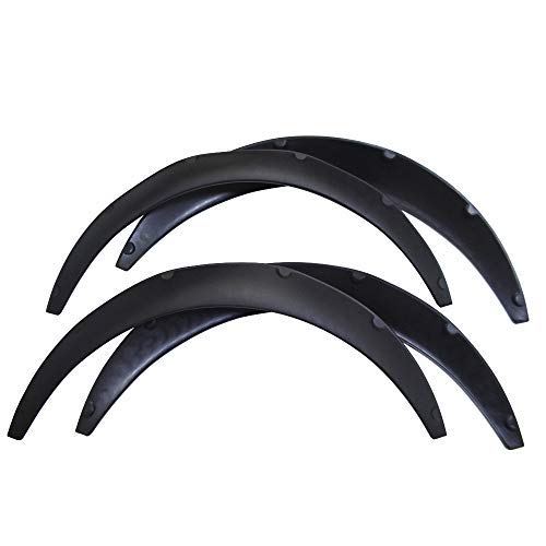 labwork 4 Pieces 840mm Universal Flexible Car Fender Flares Extra Fit for Wide Body Wheel Arches