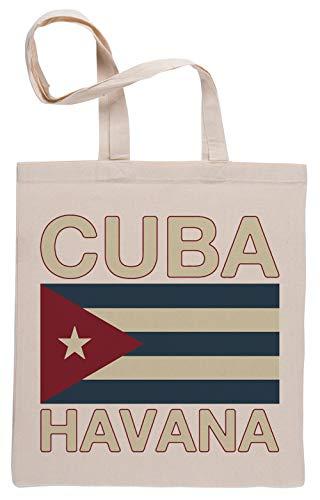 Cuba Havana Bolsa De Compras Shopping Bag Beige