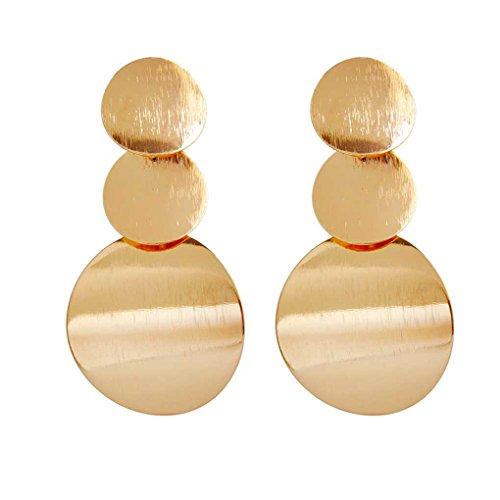 Bobury Cuelga los Pendientes 1 par Moda Oro Plata Color Irregulares geométricas Redondas para Mujeres de la Muchacha de Baile de Boda joyería
