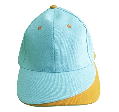Kdomania - Casquette Top Qualité Blanche et jaune Avec Impression de vos Initiales