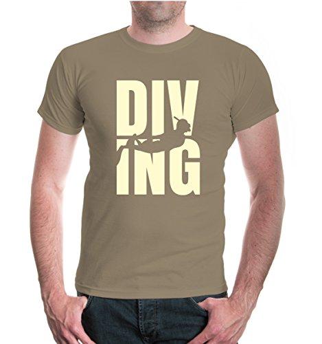 T-Shirt Diving Type-XXL-Khaki-Beige