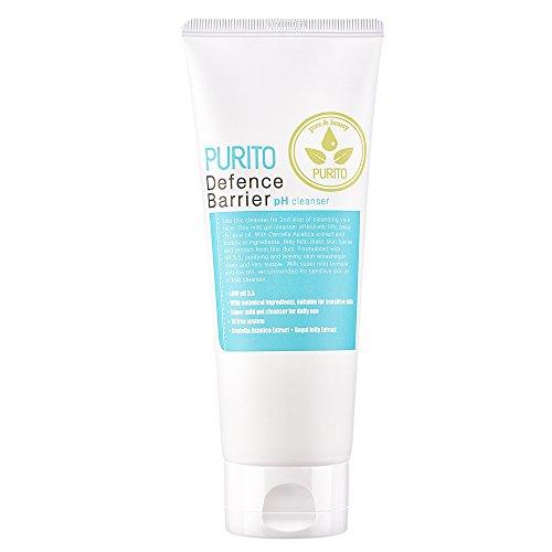 PURITO Defense Barrier Ph Nettoyant 150 ml5.1 fl.oz Peau sensible, Contrôle du sébum, Nettoyage des pores, Rafraîchissant, pH faible 5,5, Nettoyant doux, léger
