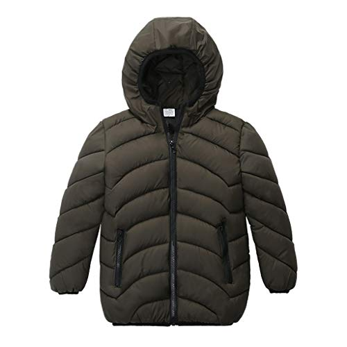 HEternal Baby Boy Girl Coat Jackets Winter Hooded Outfits Halloween Down Warm Outwear Snowsuit Clothes 12 18 Months Gray