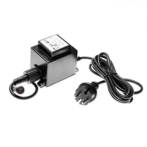 CLGarden Premium Trafo 12V AC 5000mA 60 Watt 60VA 5A 60W 12 Volt IP67 Plug&Light Transformator Springbrunnen Pumpe LED