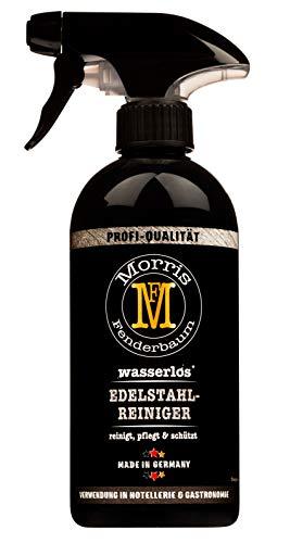 Morris Fenderbaum Edelstahlreiniger Profi-Qualität - Reinigungsmittel und Edelstahl-Pflege - Pflegespray, Politur- Grillreiniger - Sprühflasche, 1 x 500 ml