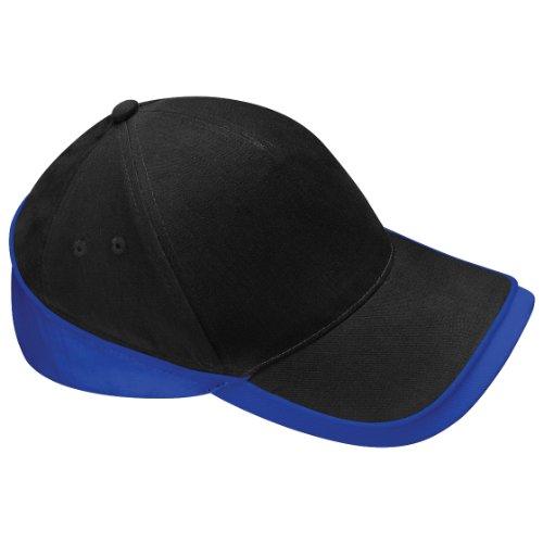 Beechfiel - Casquette 100% coton - Adulte unisexe (Taille unique) (Noir/Bleu roi vif)