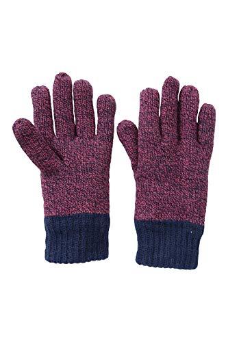 Mountain Warehouse Thinsulate Melange Kinder-Handschuhe, Für Winter Beerenton S-M
