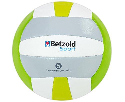Betzold Sport Leicht-Volleyball für Kinder und Einsteiger, reduziertes Gewicht - Kinder Trainingsball Kindervolleyball Training Schulsport Bälle Kinderbälle Softball