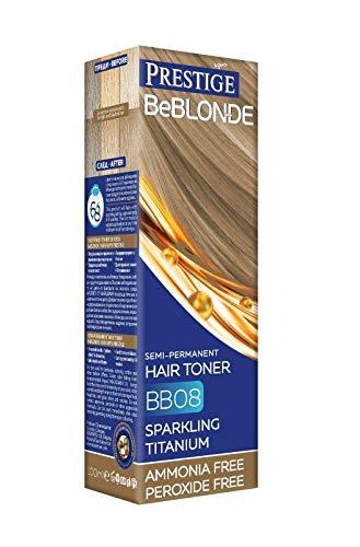 VIPs Prestige BeBlonde Semi Permanent Hair Toner Colour Sparkling Titanium BB08, No Ammonia No...