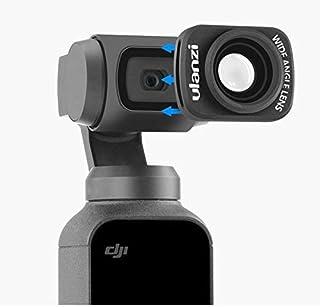 DJI Osmo Pocket対応 広角フィルター 広角レンズ ポケット広 アクセサリー 超軽量2.5グラム ズーム倍率 x0.65プロフェッショナル カメラレンズ カメラフィルター (ブラック)