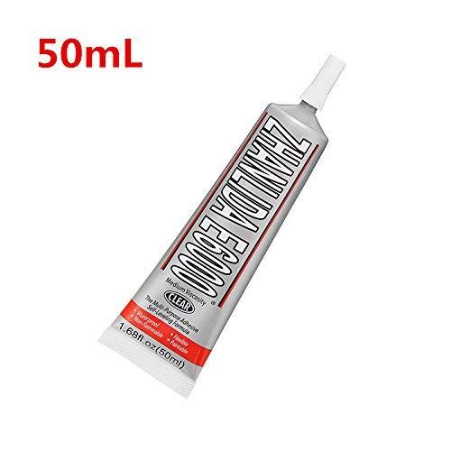 E6000 Zelfnivellerende Lijm Heldere Acryl Lijm Hars Heldere DIY Ambachten Sieraden Schoenen Kristal Glas - 50ml