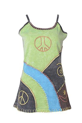 Damen-Shirt aus Strap Tank Tops Shirt-Weste mit Stickerei