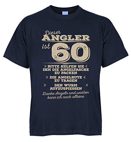 Wels Zander Carpe Shirt Fischer Cet Angler est 60 Veuillez vous aider à porter la canne à pêche – avec mini t-shirt comme cadeau. - Bleu - 2 mois