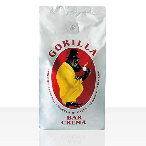 Gorilla Espresso Bar Crema Kaffee Bohnen - 8 Pakete zu je 1000 g Cafe