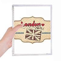 英国ロンドンユニオンジャック・スタンプ 硬質プラスチックルーズリーフノートノート