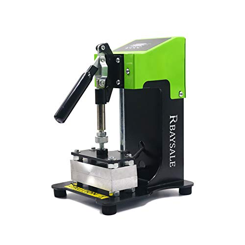 RBAYSALE Rosin Press Extraktion ohne Lösungsmittel Kolophonium Presse 600W Rosin-Presse mit Temperatur- und Druckeinstellung bis 1T, 13 x 6 cm Platten