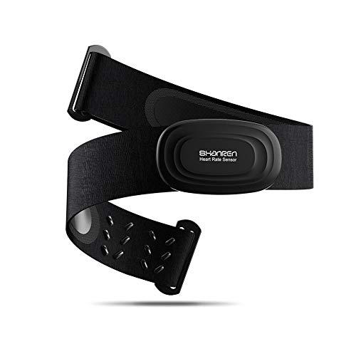 SHANREN Chest Strap Fitness Tracker ANT+ Heart Rate Monitor, Beat 10 Bluetooth Heart Rate Monitor, IP67 Waterproof Smart Fitness Activity Tracker for Wahoo Endomondo Nike Run Club Runkeeper