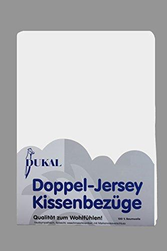 Dukal, Kissenbezug, 40 x 80 cm, aus hochwertigem DOPPEL-Jersey (100{65bd07add4a4902960f0e6b79e2c359b2415a5fa8dd979e0e7244d710f67d164} Baumwolle), Farbe: Weiss