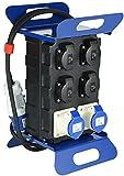 Electraline 60430 Quadro Elettrico di Distribuzione Portatile con Interruttore Differenziale di Sicurezza RCD 30mA, 4 prese Schuko, 2 Prese Industriali CEE, Spina a 2P+T, Cavo 2M H07RN-F 3G1,5, IP44