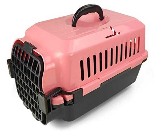 CPZLL Boîte à air livraison boîte chats et les chiens se peloter pochette avion cages cages chat camps d'animal familier , pink