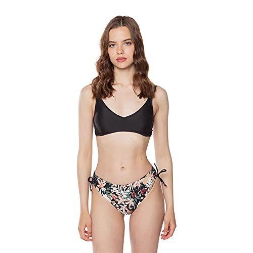 Liu Jo Bikini Slip Alto Ajustable VA1072J5932 Negro Tropical XL