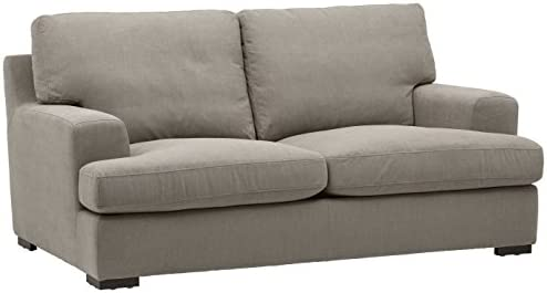 Best Amazon Brand – Stone & Beam Lauren Down-Filled Oversized Loveseat with Hardwood Frame, 74