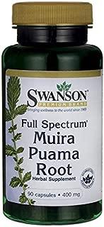 Swanson Muira Puama Root Sexual Health Virility Libido Boost Support Men's Women's Supplement 400 mg 90 Capsules