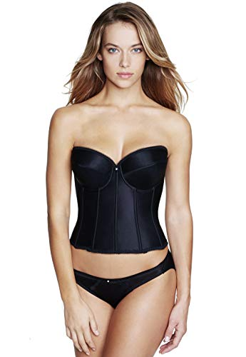 Dominique Smooth Satin Brasselette (32A Black)