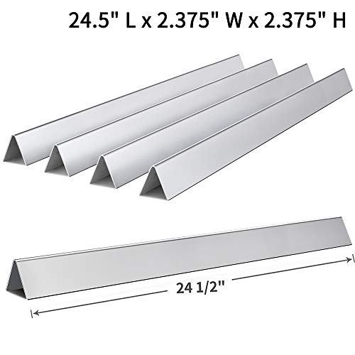 SHINESTAR 24.5 inch Heavy Duty Flavorizer Bars for Weber Genesis 300 Series, Stainless Steel Replacement Parts 7540